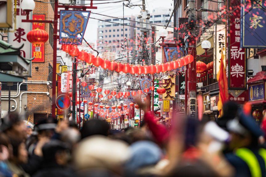 今年も中華街で宴会が多く。